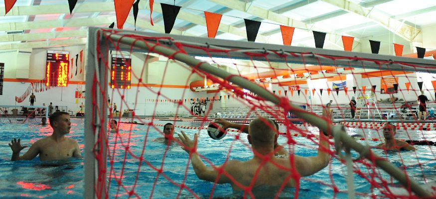 Cadets playing water polo