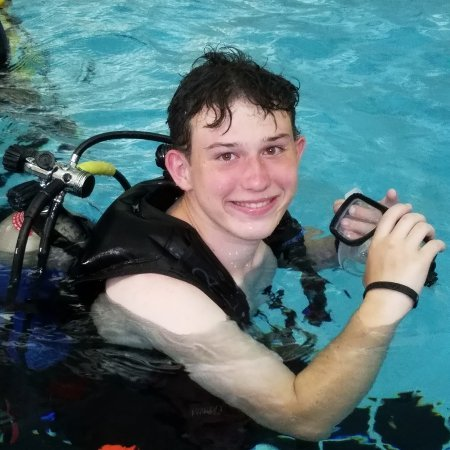 Cadet in SCUBA gear