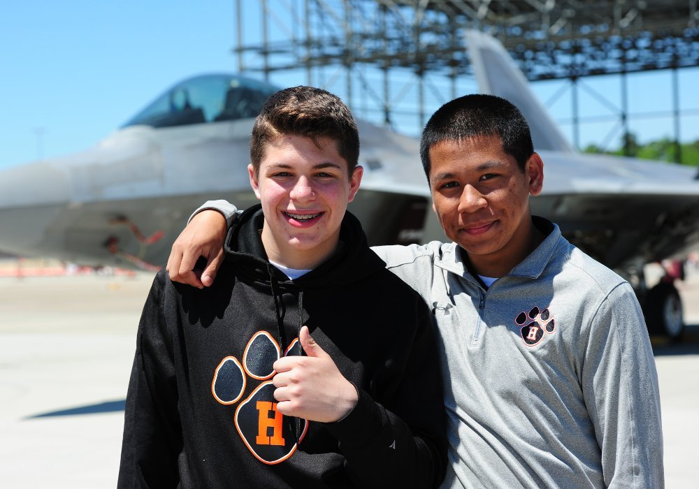 Cadets at air show
