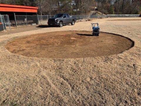 Baseball mound work