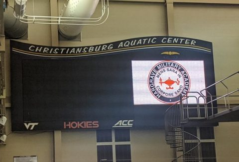 Scoreboard with HMA logo