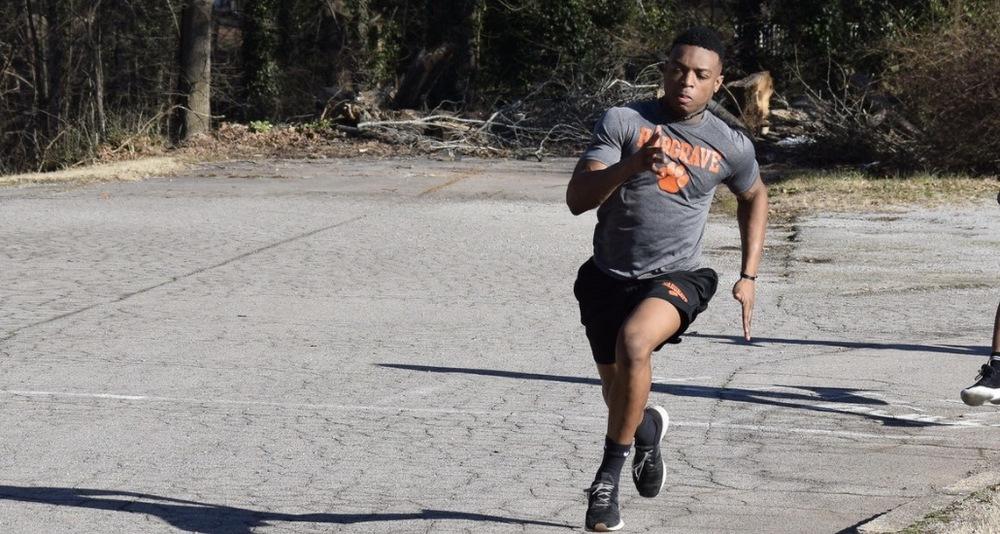 Hargrave runner on track